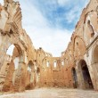 Ruins of an old church destroyed during the spanish civil war in Belchite, Saragossa, Spain. — Stock Photo #52997113