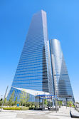 MADRID, SPAIN-4 MAY: Cuatro torres financial center in Madrid on — Stock Photo