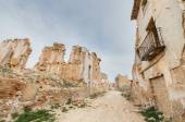 Main Street in the abandoned town of Belchite. Was destroyed during the Spanish civil war, Saragossa, Spain. — Stock Photo