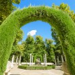 Archway in Aranjuez royal palace gardens, Spain. — Stock Photo #53006515