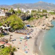 Nerja beach, famous touristic town in costa del sol, Malaga, Andalusia, Spain. — Stock Photo #53007841