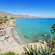 Nerja beach, famous touristic town in costa del sol, Malaga, Andalusia, Spain. — Stock Photo #53007843