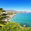 Nerja coastline landscape, famous touristic town in costa del sol, Malaga, Andalusia, Spain. — Stock Photo #53008045