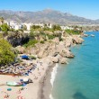 Nerja beach, famous touristic town in costa del sol, Malaga, Andalusia, Spain. — Stock Photo #53008049