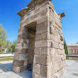 Debod Temple in Madrid. Ancient egyptian temple in Madrid. Famous touristic landmark — Stock Photo #53009121