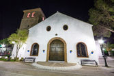 16th century white church Inmaculada concepcion in Mijas, Malaga, Spain. — Stock Photo