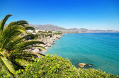 Nerja coastline landscape, famous touristic town in costa del sol, Malaga, Andalusia, Spain. — Photo