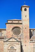 Detail of the facade of St Mary Cathedral in Siguenza, Guadalajara, Spain. — Stock Photo