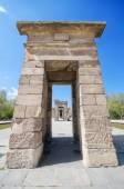 Debod Tempel in Madrid. alte Ägyptische Tempel in Madrid. Touristische Wahrzeichen — Stockfoto