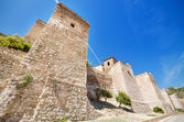 Exterior view of Alcazaba walls. Ancient fortress in Malaga, Andalusia, Spain. — Stock Photo