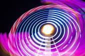 Abstract colorful light trails. — Stock Photo