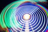 Sentiers de lumière colorées abstraites — Photo