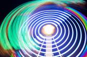 Abstract colorful light trails — Stock Photo
