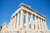 Famous Parthenon temple in the Acropolis, Athens, Greece. — Stock Photo