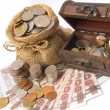 Money coin and bank — Stock Photo #75325593
