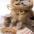 Money coin and bank — Stock Photo #75325631