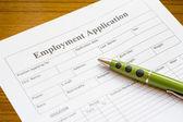 Employment application — Stock Photo