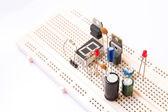 Prototyping electronic board — Stock Photo
