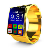 Gold smart watches — Stock Photo