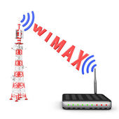 Tower and modem — Stock Photo