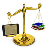 Tablet on  scales — Stock Photo