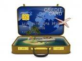Credit suitcase — Stockfoto