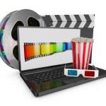 Laptop and popcorn — Stock Photo #67626779