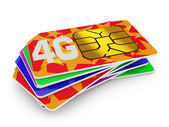 4g sim cards — Stock Photo