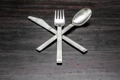 Knife fork spoon — Stock Photo