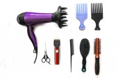 Tools hairdresser to cut hair — Stock Photo
