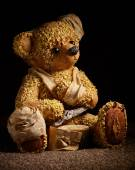 Injured Teddy Bear — Stock Photo
