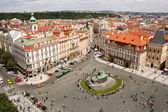 Airview of Old Town Square in Prague. — Stock fotografie