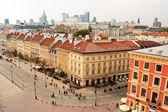 Krakowskie Przedmiescie street in Warsaw, view from above — Stock Photo