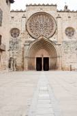 Benedictine monastery in Sant Cugat, Spain — Stock fotografie