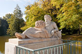 Allegory of the Bug River in Royal Baths Park, Warsaw — Stock Photo