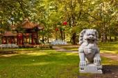 Chinese garden in Lazienki park (Royal Baths park), Warsaw — Stock Photo