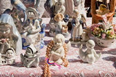 Vintage porcelain figurines — Stock Photo