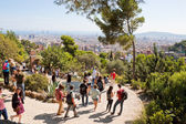 Tourists in Park Guell — Stock Photo