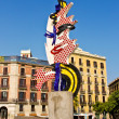 Постер, плакат: Sculpture The Head of Barcelona by Roy Lichtenstein on the st