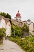Quite street in Salzburg, Austria — Stock Photo