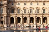 Louvre and people — Fotografia Stock