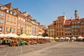 Market sqaure in the old town of Warsaw, Poland — Stock Photo