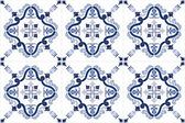 Traditional ornate portuguese tiles azulejos. Vector illustration. — Stock Vector