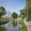 Como Park conservatory on a bright summer afternoon — Zdjęcie stockowe #64237967