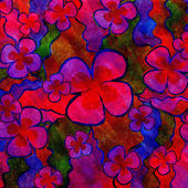 Red and blue floral background. — Stock Photo