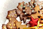 Glazed gingerbread biscuits — ストック写真