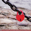 Red lock with heart form — Stock Photo #55930367