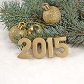 2015 year golden figures — ストック写真