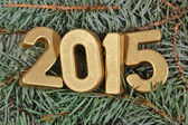 2015 year golden figures — Stockfoto