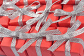 Top view of red gifts — Stock Photo